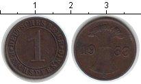 Изображение Мелочь Веймарская республика 1 пфенниг 1933 Медь XF