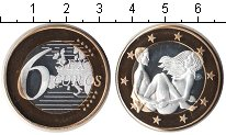 Изображение Мелочь Германия 6 секс евро 0 Биметалл UNC Сувенир. Данный това