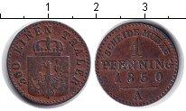 Изображение Монеты Германия Пруссия 1 пфенниг 1850 Медь