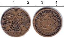 Изображение Монеты Веймарская республика 10 пфеннигов 1924  VF