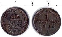 Изображение Монеты Пруссия 1 пфенниг 1868 Медь XF