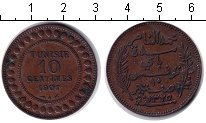 Изображение Монеты Тунис 10 сантим 1907 Медь XF