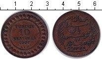 Изображение Монеты Африка Тунис 10 сантим 1907 Медь XF