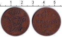 Изображение Монеты Гессен-Кассель 4 хеллера 1821 Медь