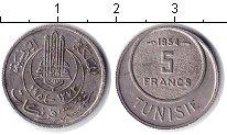 Изображение Монеты Тунис 5 франков 1954 Медно-никель  KM# 277