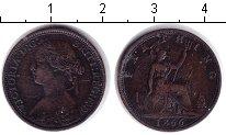 Изображение Монеты Европа Великобритания 1 фартинг 1866 Медь VF