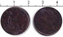 Изображение Монеты Великобритания 1 фартинг 1893 Медь VF Виктория