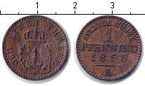 Изображение Монеты Пруссия 1 пфенниг 1863 Медь XF