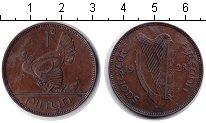Изображение Монеты Ирландия 1 пенни 1928 Медь VF курица
