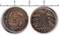 Изображение Монеты Веймарская республика 5 пфеннигов 1925  VF