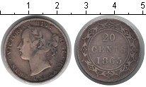 Изображение Монеты Канада Ньюфаундленд 20 центов 1865 Серебро
