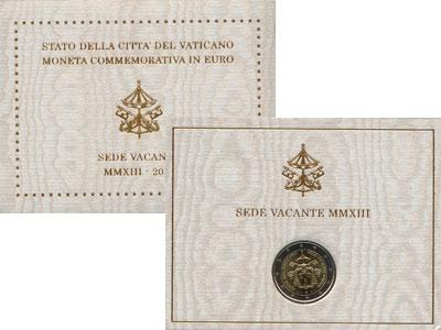 Изображение Подарочные монеты Европа Ватикан Седе Ваканте 2013 2013 Биметалл UNC