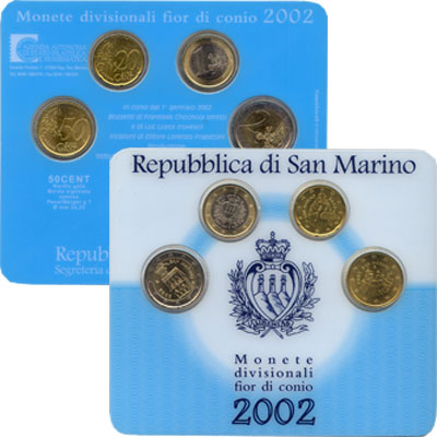 Изображение Подарочные монеты Сан-Марино Выпуск монет 2002 2002