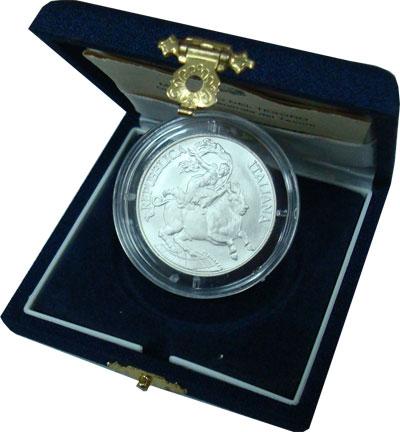 Изображение Подарочные монеты Италия Город Мессина 1995 Серебро