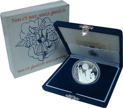 Изображение Подарочные монеты Европа Ватикан Иоанн Павел II 2002 Серебро