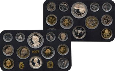 Изображение Подарочные монеты Италия Выпуск монет 1997 года 1997