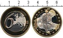 Изображение Мелочь Германия 6 секс евро 0 Биметалл UNC- Сувенир. Данный това