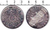 Изображение Монеты Бавария 3 марки 1910 Серебро VF