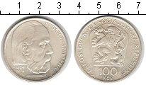 Изображение Мелочь Чехословакия 100 крон 1974 Серебро XF Бедрих Сметана.
