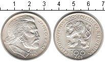 Изображение Монеты Чехословакия 100 крон 1976 Серебро UNC-