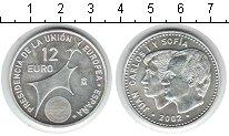 Изображение Монеты Испания 12 евро 2002 Серебро UNC-
