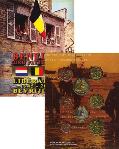 Изображение Подарочные монеты Нидерланды Набор монет Евро-модель 2005  UNC
