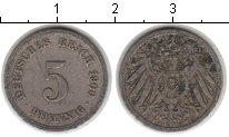 Изображение Мелочь Германия 5 пфеннигов 1900 Медно-никель XF <br>.