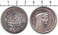Изображение Монеты Италия 1000 лир 1970 Серебро XF 100-летие Конкордии.