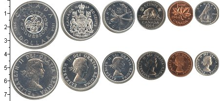 Изображение Подарочные монеты Канада Канада 1964 1964  UNC-
