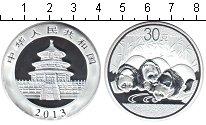 Изображение Мелочь Китай Монетовидный жетон 2013 Посеребрение Proof Панда