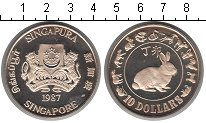 Изображение Мелочь Азия Сингапур 10 долларов 1987 Медно-никель Proof-