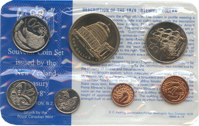 Изображение Подарочные монеты Австралия и Океания Новая Зеландия Годовой набор 1978 года 1978  UNC