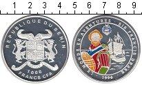 Изображение Монеты Африка Бенин 1000 франков 1996 Серебро Proof-