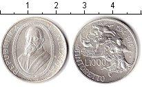 Изображение Монеты Европа Италия 1000 лир 1994 Серебро UNC-