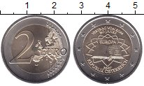 Изображение Мелочь Австрия 2 евро 2007 Биметалл UNC- 50-летие Римского до