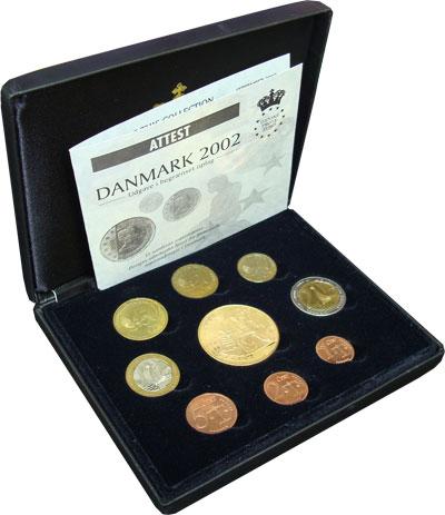 Изображение Подарочные монеты Европа Дания Пробный евронабор 2002 2002  UNC