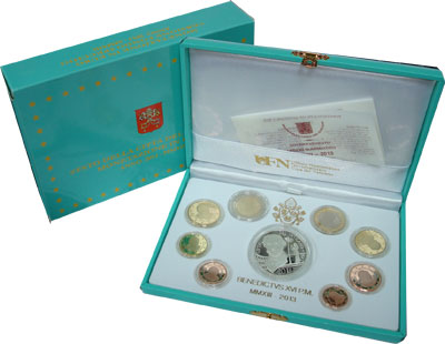 Изображение Подарочные монеты Ватикан Евронабор 2013, Бенедикт 2013  Proof