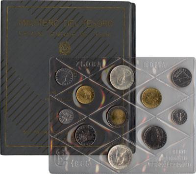 Изображение Подарочные монеты Италия Выпуск монет 1985 года 1985  UNC