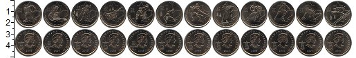 Изображение Наборы монет Северная Америка Канада Канада 2007-2009 2007 Медно-никель UNC-