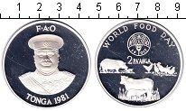 Изображение Монеты Тонга 2 паанга 1981 Серебро