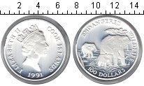 Изображение Подарочные монеты Новая Зеландия Острова Кука 100 долларов 1991 Серебро UNC-