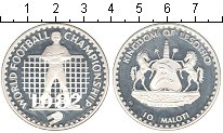 Изображение Монеты Африка Лесото 10 малоти 1982 Серебро Proof