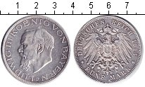Изображение Монеты Бавария 5 марок 1914 Серебро XF Людвиг III