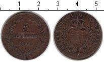 Изображение Монеты Европа Сан-Марино 5 сентесим 1894 Медь XF