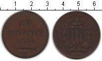 Изображение Монеты Европа Сан-Марино 10 сентесим 1894 Медь XF