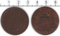 Изображение Монеты Европа Сан-Марино 10 сентесим 1875 Медь XF