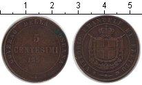 Изображение Монеты Тоскана 5 чентезимо 1859 Медь XF