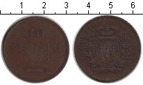 Изображение Монеты Сан-Марино 10 сентесим 1875 Медь XF