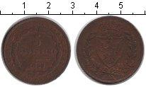 Изображение Монеты Италия Сардиния 5 сентесим 1826 Медь VF