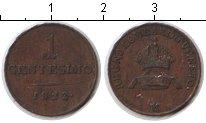 Изображение Монеты Ломбардия 1 чентезимо 1822 Медь XF LOMBARDY-VENETIA